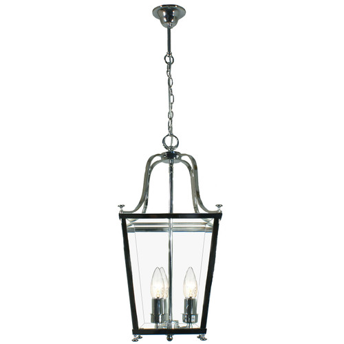 Montana 3 Light Chrome Glass Lantern Pendant