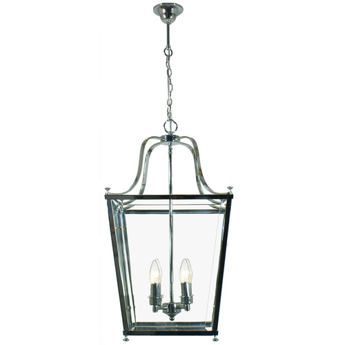 Montana 4 Light Chrome Glass Lantern Pendant