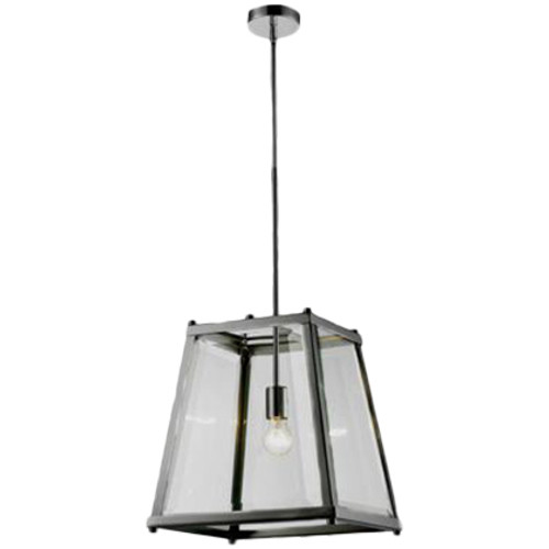 Citadel 1 Light Chrome Glass Lantern Pendant