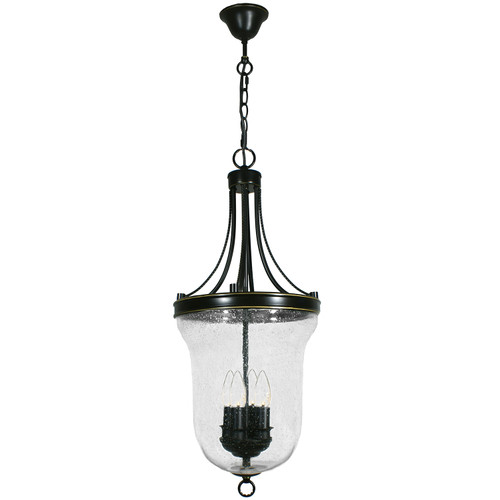 Water Drop Effect 4 Light Heritage Bronze Lantern Pendant