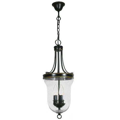 Water Drop Effect 3 Light Heritage Bronze Lantern Pendant