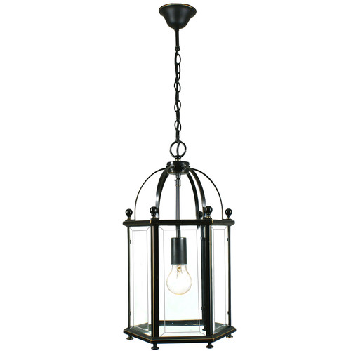 Country 1 Light Bronze Lantern Pendant