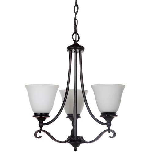 Dallas 3 Light Bronze Pendant Chandelier