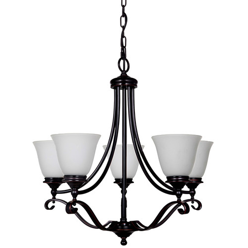Dallas 5 Light Bronze Pendant Chandelier