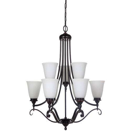 Dallas 9 Light Bronze Pendant Chandelier