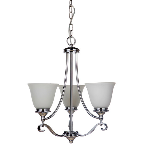 Dallas 3 Light Chrome Pendant Chandelier