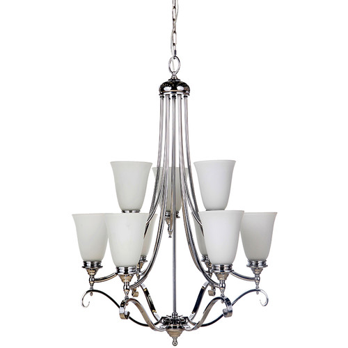 Dallas 9 Light Chrome Pendant Chandelier