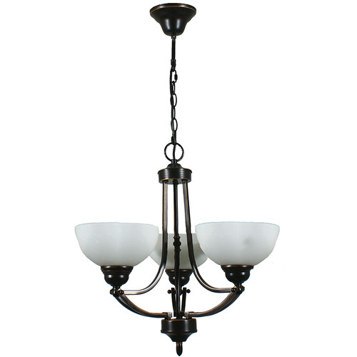 Houston 3 Light Bronze Pendant Chandelier