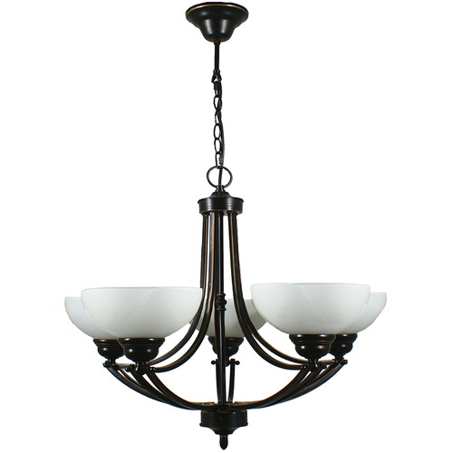 Houston 5 Light Bronze Pendant Chandelier