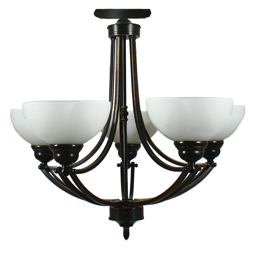 Houston 5 Light Bronze Close to Ceiling Light