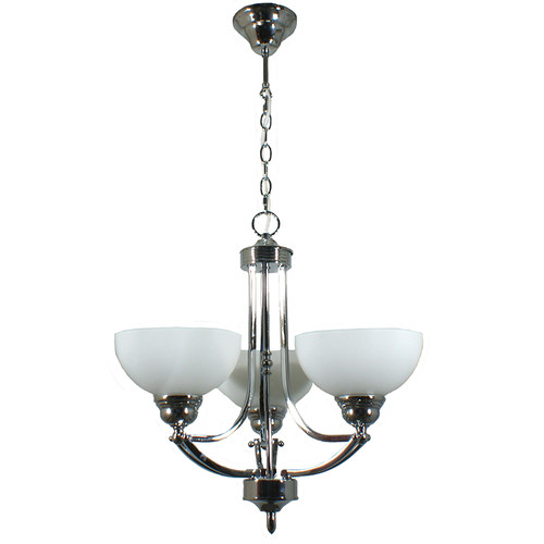 Houston 3 Light Chrome Pendant Chandelier