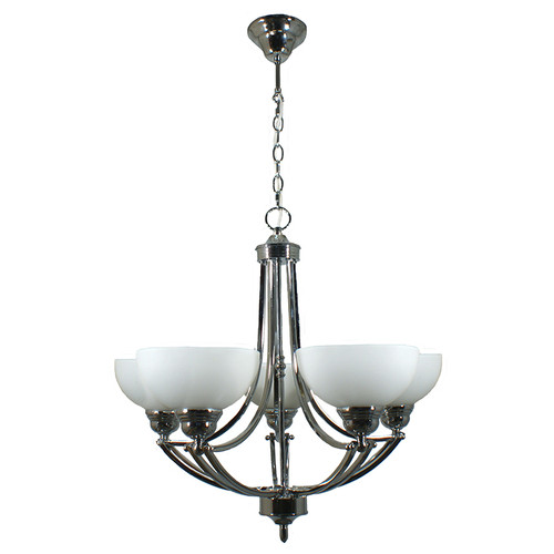 Houston 5 Light Chrome Pendant Chandelier