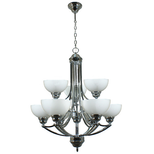 Houston 9 Light Chrome Pendant Chandelier