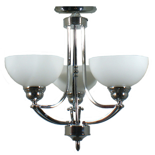 Houston 3 Light Chrome Close to Ceiling Light