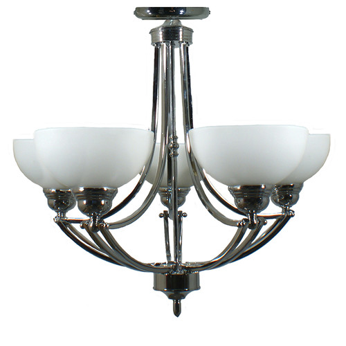 Houston 5 Light Chrome Close to Ceiling Light