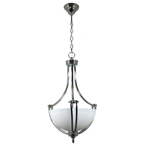 Houston Single Suspension Chrome Pendant Light