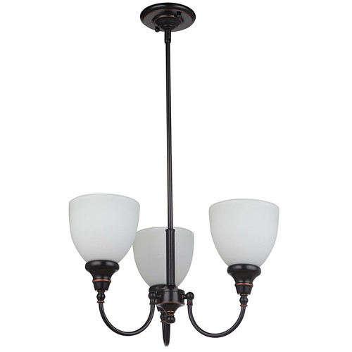 Benson 3 Light Bronze Pendant Chandelier
