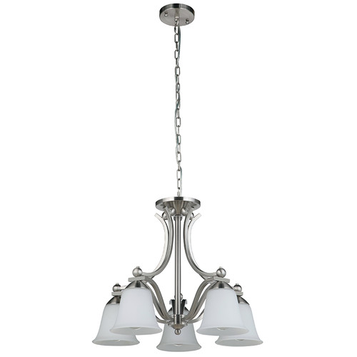 Rivoli 5 Light Pendant Light - Satin Nickel