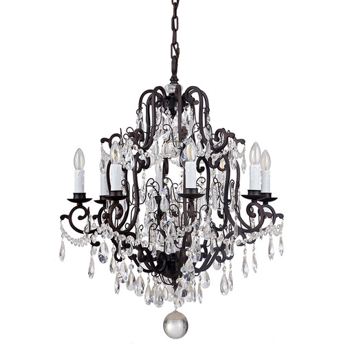 Salzburg 8 Light Bronze Crystal Pendant Chandelier