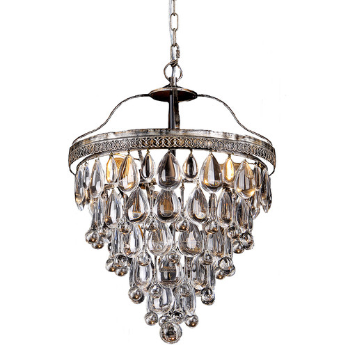 Cascade Bronze Basket Crystal Chandelier - Small