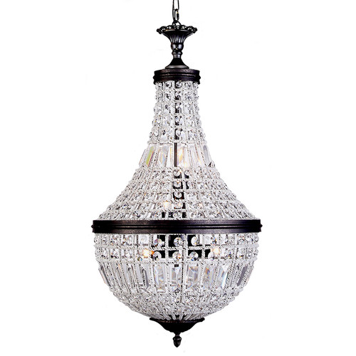 Empire Basket Bronze Crystal Chandelier