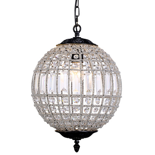 Ball Bronze Crystal Chandelier - Small