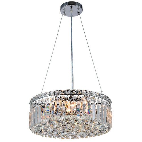 Rotondo Chrome Crystal Pendant Light