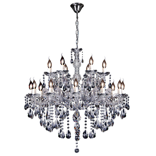 Zurich 18 Light Chrome Crystal Drops Chandelier