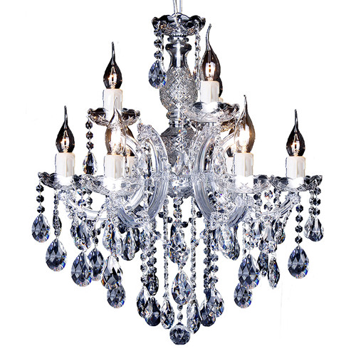Zurich 9 Light Chrome Crystal Drops Chandelier