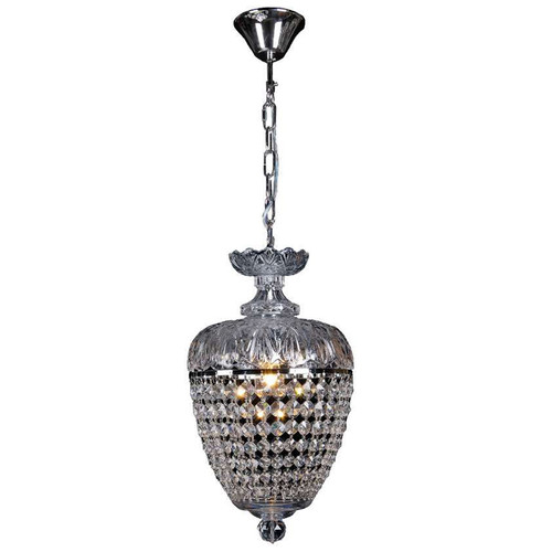 Chopin Chrome Crystal Basket Pendant Chandelier
