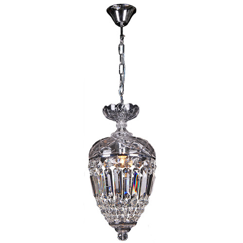 Mozart Chrome Crystal Basket Pendant Chandelier