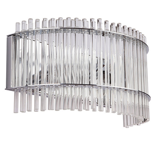 Stella 2 Light White Glass Chrome Wall Light