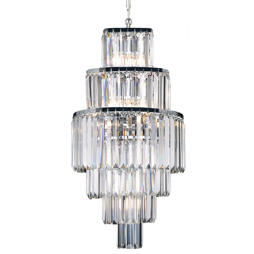 Celestial 6 Tier Chrome Crystal Pendant Chandelier