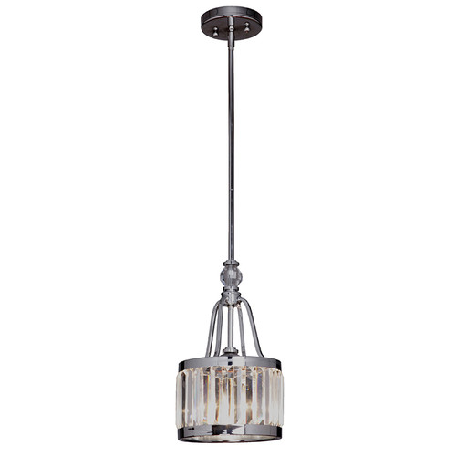 Excelsior Rod 1 Light Chrome Glass Crystal Pendant
