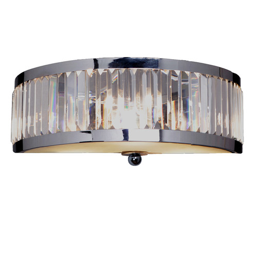 Excelsior 2 Light Chrome Glass Crystal Wall Light
