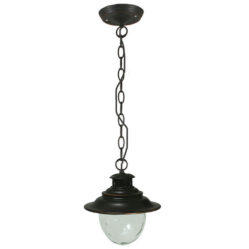 Wick Antique Bronze Exterior Chain Pendant Light