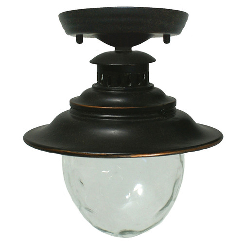 Wick Antique Bronze Exterior Close to Ceiling Lights