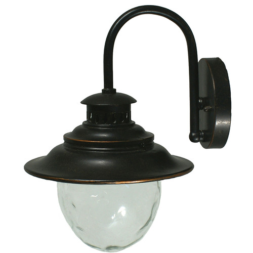 Wick Antique Bronze Exterior Wall Lights