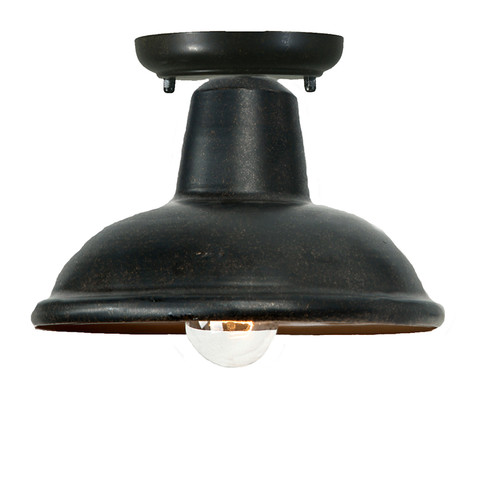 City Antique Bronze Exterior Close to Ceiling Light