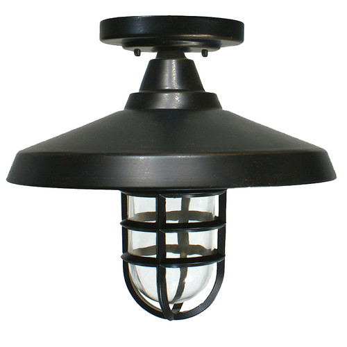 Deck Antique Bronze Exterior Close to Ceiling Lights