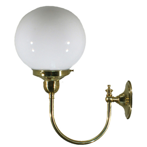 Clement Brass Opal Glass Wall Light