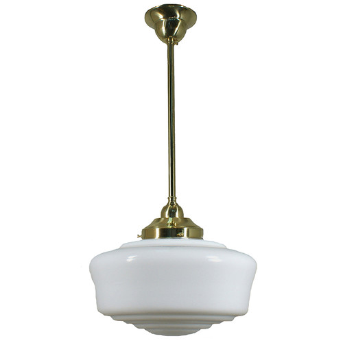 Moulins Brass Rod Opal Gloss Pendant Light