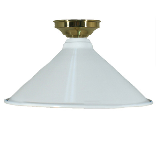 Industrial White Brass Close to Ceiling Light