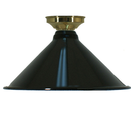 Industrial Black Brass Close to Ceiling Light