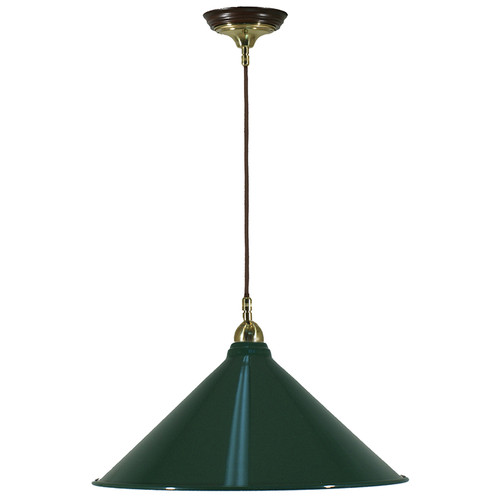 Industrial Cloth Cord Green Shade Pendant Light