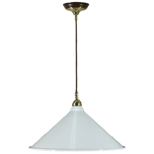 Industrial Cloth Cord White Shade Pendant Light