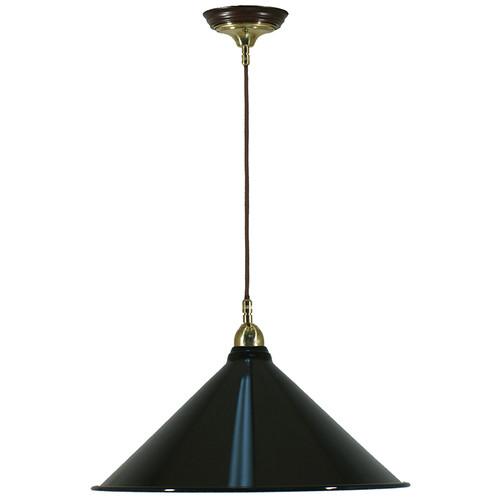 Industrial Cloth Cord Black Shade Pendant Light