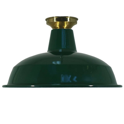 Industrial Warehouse Green Close to Ceiling Light