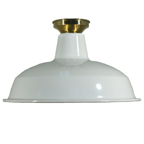 Industrial Warehouse White Close to Ceiling Light