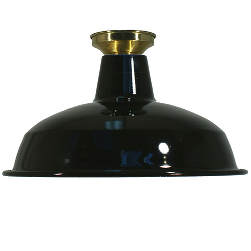 Industrial Warehouse Black Close to Ceiling Light